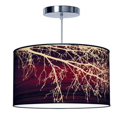 Organic Modern Branch Pendant Size: Medium, Color: Brown