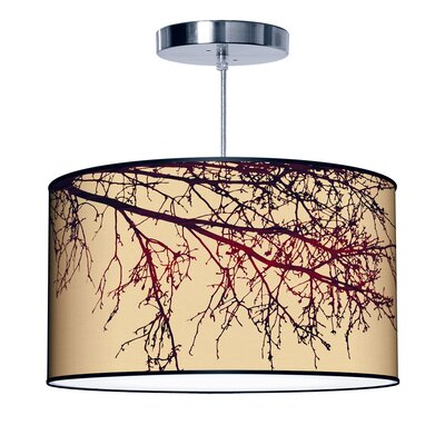 Organic Modern Branch Pendant Size: Medium, Color: Beige
