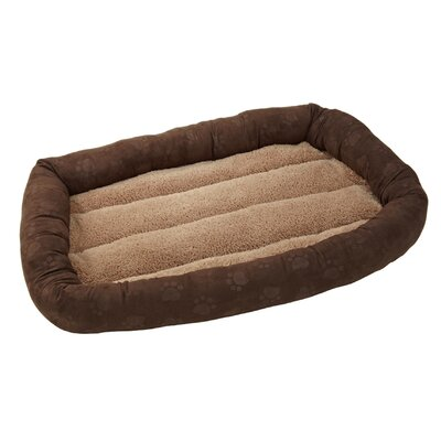 "Deluxe Comfort Cushion Donut Dog Bed Color: Chestnut / Toast, Size: Large (36"" L x 24"" W)"