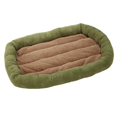 "Deluxe Comfort Cushion Donut Dog Bed Size: Medium (32"" L x 22"" W), Color: Moss / Toast"