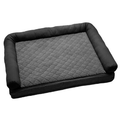 "2 'N 1 Comfort Lounge Dog and Cat Bolster Color: Ebony / Smoke, Size: Medium (40"" L x 30"" W)"