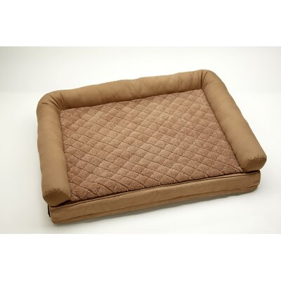 "2 'N 1 Comfort Lounge Dog and Cat Bolster Size: Large (48"" L x 36"" W), Color: Toast / Toast"