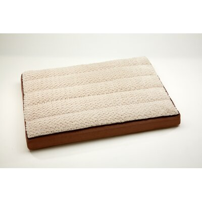 "Top Comfort Lounge Dog Pillow Size: Medium (40"" L x 30"" W), Color: Chestnut / Tapioca"