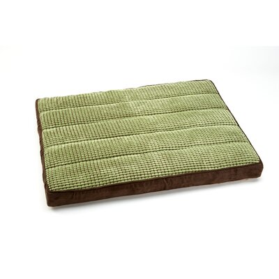 "Top Comfort Lounge Two Tone Niblet Dog Pillow Size: Small (33"" L x 25"" W), Color: Moss / Chestnut"