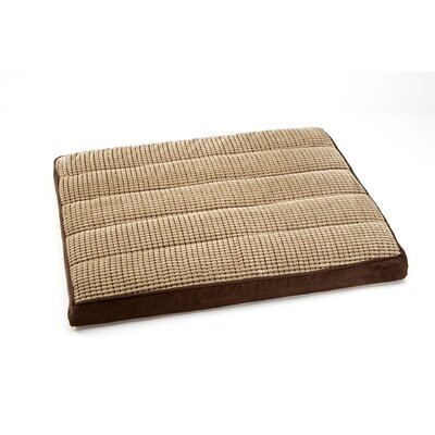 "Top Comfort Lounge Two Tone Niblet Dog Pillow Size: Medium (40"" L x 30"" W), Color: Toast / Chestnut"