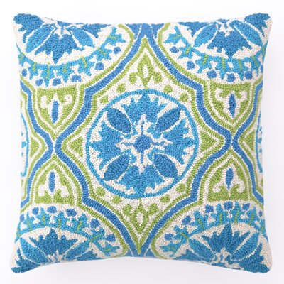 Back Bay Hook Linen Throw Pillow Color: Blue Green