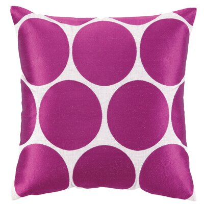 Erin Embroidered Linen Throw Pillow Color: Pink