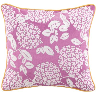 Cipriana Embroidered Linen Throw Pillow Color: Pink