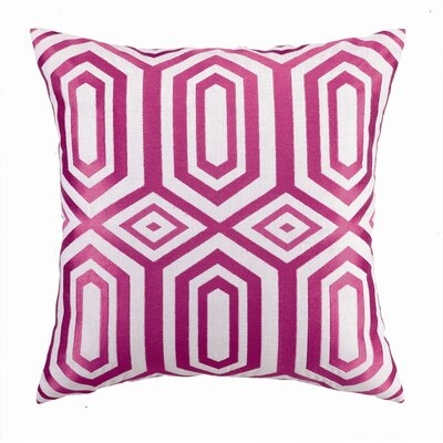 Hotel Soho Embroidered Linen Throw Pillow Color: Pink