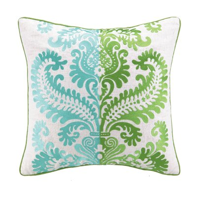 Barcelona Embroidered Linen Throw Pillow Color: Amanda