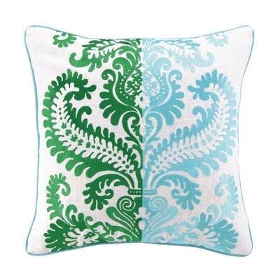 Barcelona Embroidered Linen Throw Pillow Color: Llana