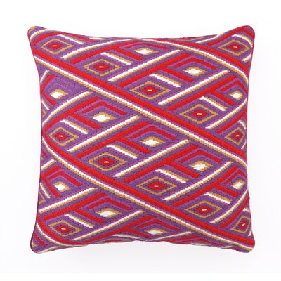 Marcella Bargello Linen Throw Pillow Color: Red