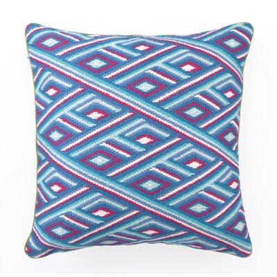 Marcella Bargello Linen Throw Pillow Color: Blue