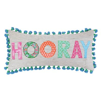 Hooray Linen Throw Pillow