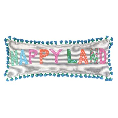 Happyland Linen Throw Pillow