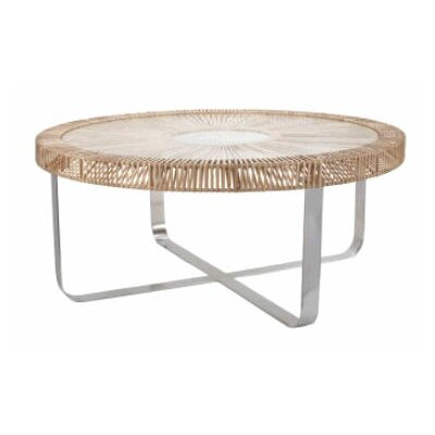 Split Rattan Coffee Table
