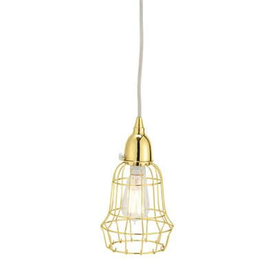Mcguffin Wire Barrel 1-Light Pendant Color: Gold
