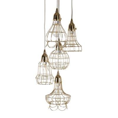Ager Wire 5 Pendant Lamp Color: Gold