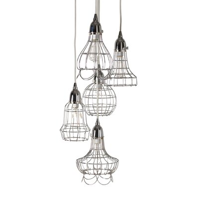 Ager Wire 5 Pendant Lamp Color: Silver