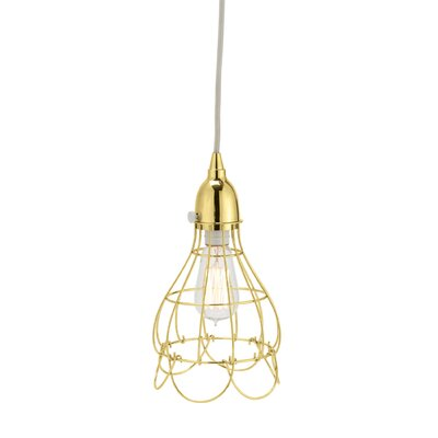Colbourne Wire 1-Light Mini Pendant Color: Gold