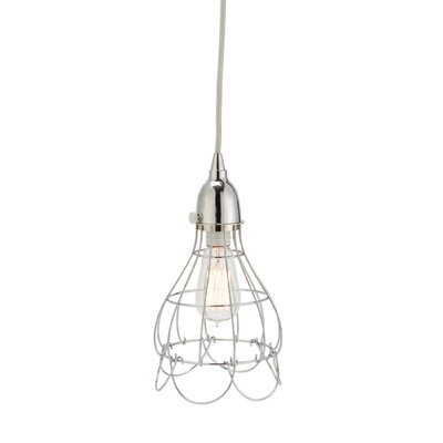 Colbourne Wire 1-Light Mini Pendant Color: Silver