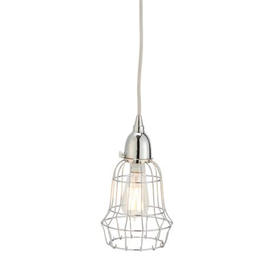 Mcguffin Wire Barrel 1-Light Pendant Color: Silver