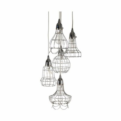 Wire 5 Pendant Lamp Color: Silver