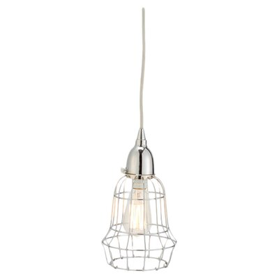 Wire Barrel 1-Light Pendant Color: Silver