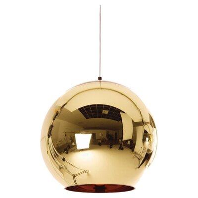 Copper 1 Light Globe Pendant Size: 9.8