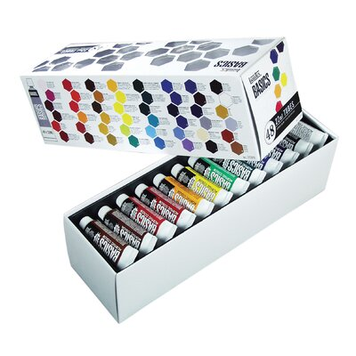 Basics Acrylic Paint Tube Set 101048