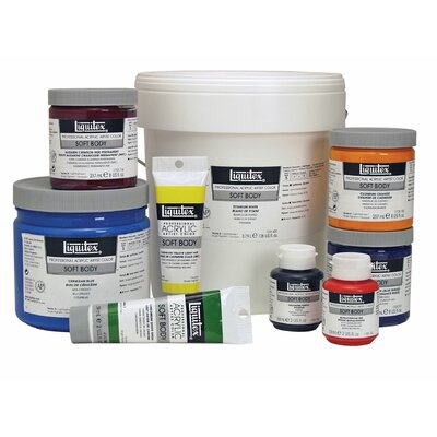 Professional Soft Body Acrylic Paint Pail Color: Quinacridone Crimson 3381110