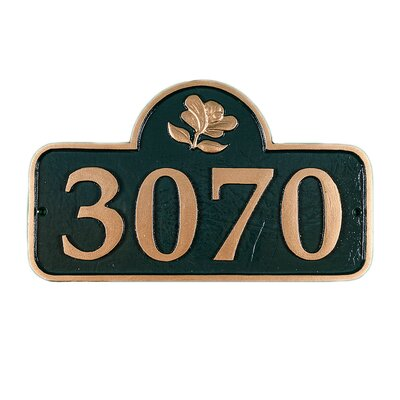Springfield Address Plaque Finish: Chocolate/Silver, Mounting: Lawn