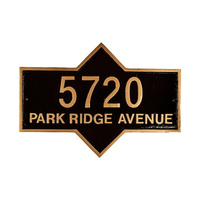 Piedmont Standard Address Plaque Finish: Taupe/White, Mounting: Lawn