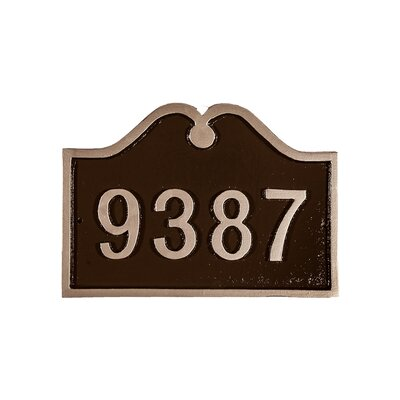 Hillsdale Petite Address Plaque Finish: Black/Gold, Mounting: Lawn
