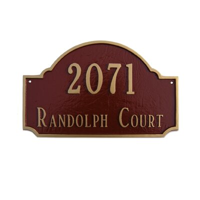 Estate Fitzgerald Address Plaque Finish: Gray / White, Mounting: Wall