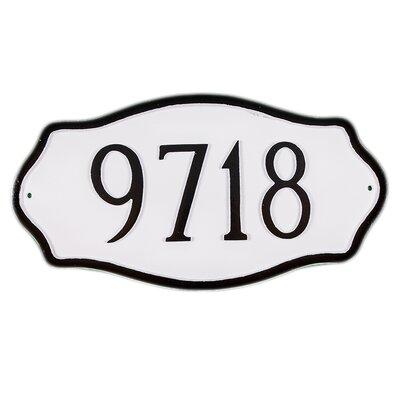 Hampton Standard Address Plaque Finish: White / Silver, Mounting: Lawn