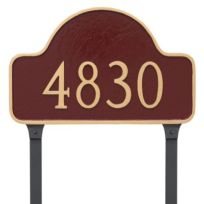 Standard Lexington Arch One Line Address Plaque Finish: Navy/Gold