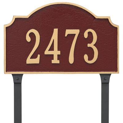 Vanderbilt Standard One Line Address Plaque Finish: Brick Red/Silver