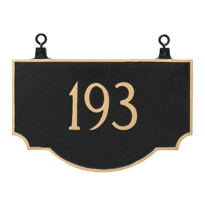 Vanderbilt Double Sided Hanging Address Plaque Finish: Aged Bronze/Gold