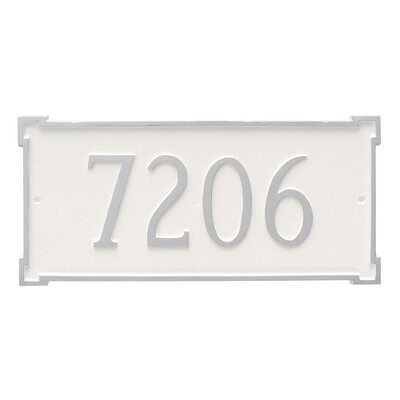 New Yorker Estate One Line Address Plaque Finish: Navy / Gold