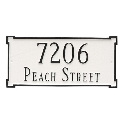 New Yorker Estate Two Line  Address Plaque Finish: Brick Red / Gold