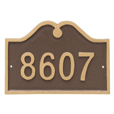 Hillsdale Arch Petite Address Sign Plaque Finish: Chocolate/Silver