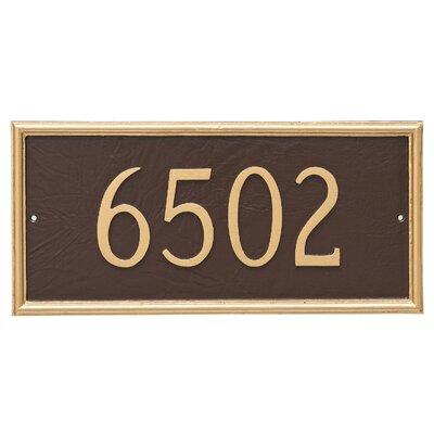 Melilla Rectangle One Line Address Plaque Finish: Chocolate / Gold