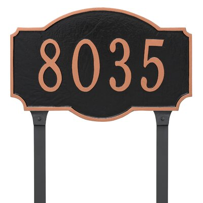 Estate One Line Address Plaque Finish: Whtie / Silver