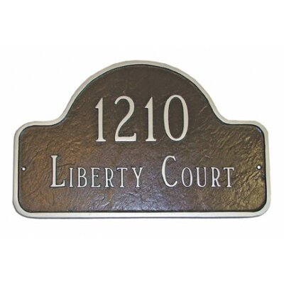 Lexington Arch Extension Large Address Plaque with Lawn Stakes Finish: Sand / Gold