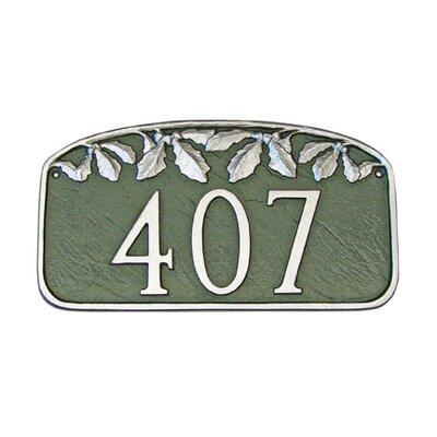 Leaf Address Plaque Finish: Black / White, Mounting: Lawn