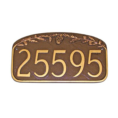 Pine Cone Address Plaque Finish: Black / White, Mounting: Wall