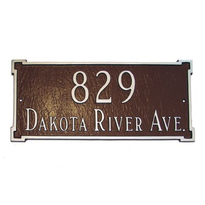 New Yorker Standard Address Plaque Finish: Sea Blue / Gold, Mounting: Lawn