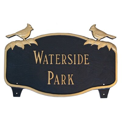 Cardinal Address Sign Finish: White / Silver, Mounting: Lawn