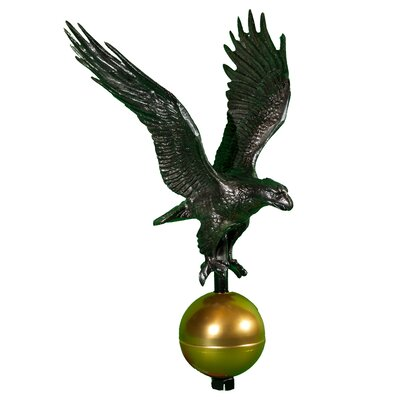 """Montague Metal Products Eagle Flagpole Finial - Finish: Swedish Iron, Size: Small (12"""" H x 9.25"""" W) at Sears.com"""
